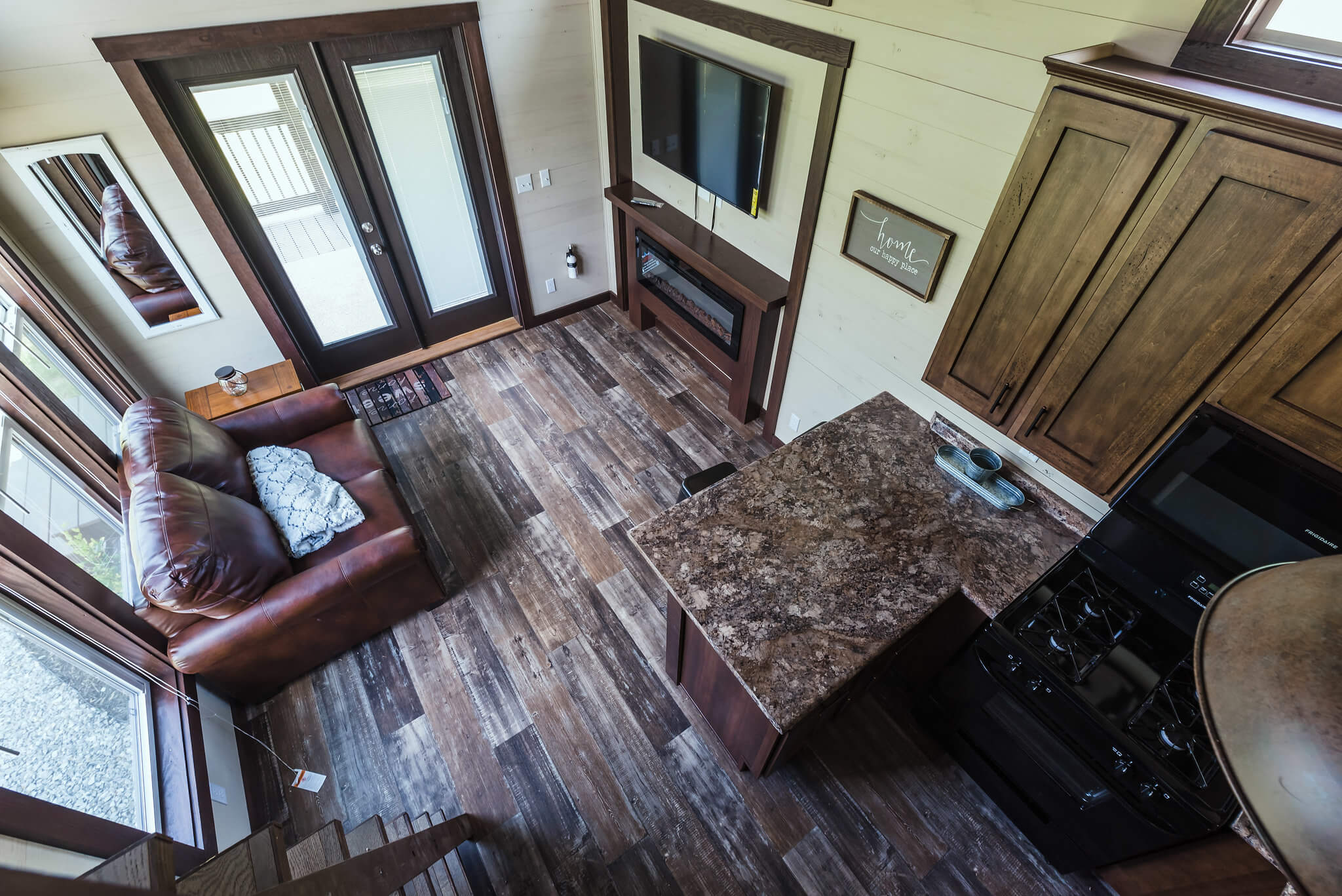 view of tiny home interior