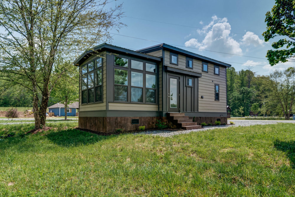 one of the tiny homes in blue ridge ga