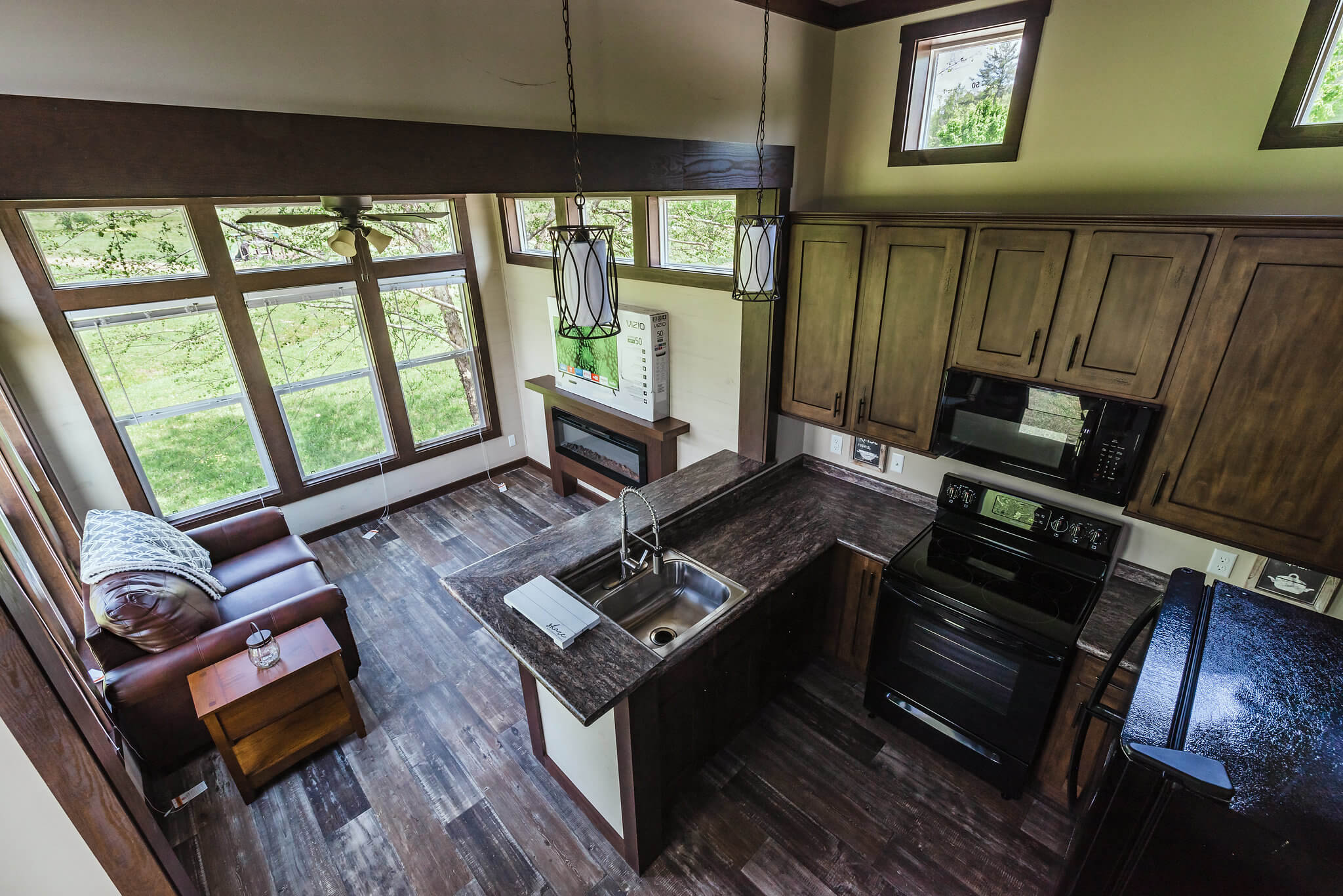 Inside of tiny home in Waterside at Blue Ridge