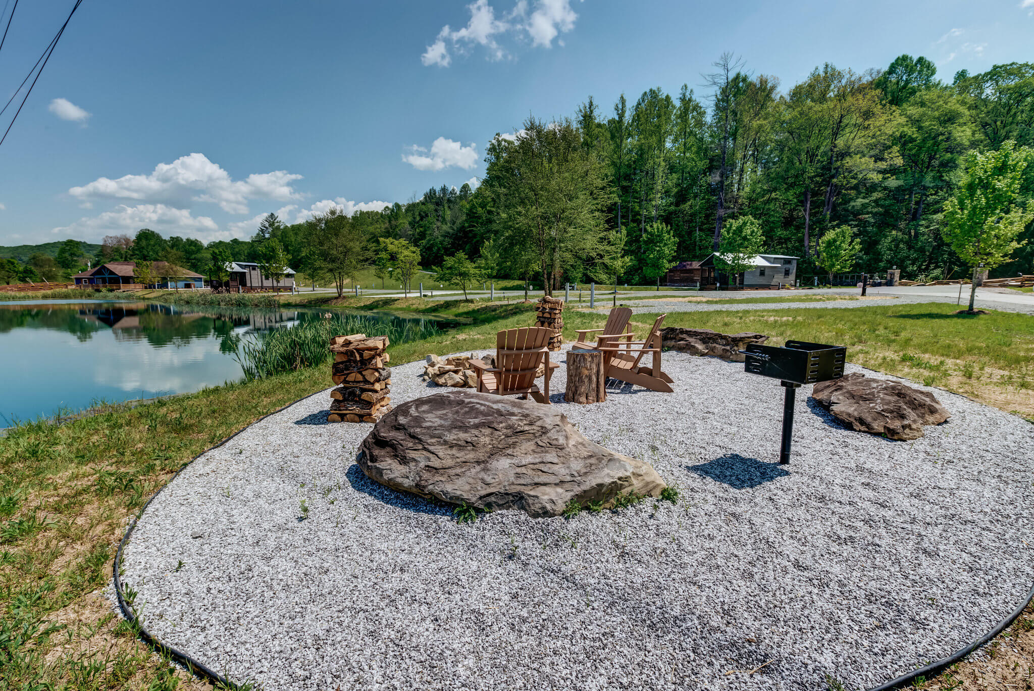 Fire pit at Waterside at Blue Ridge