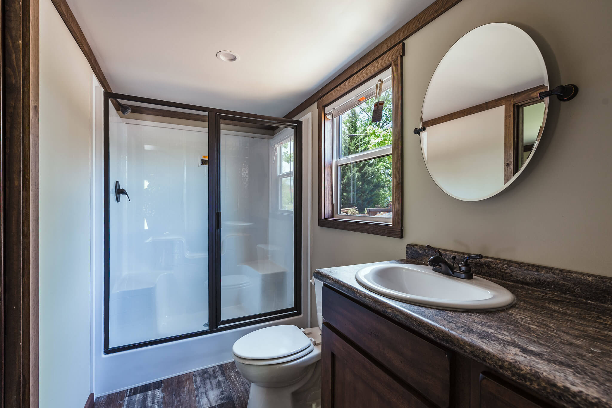 bathroom in tiny home at Waterside at Blue Ridge