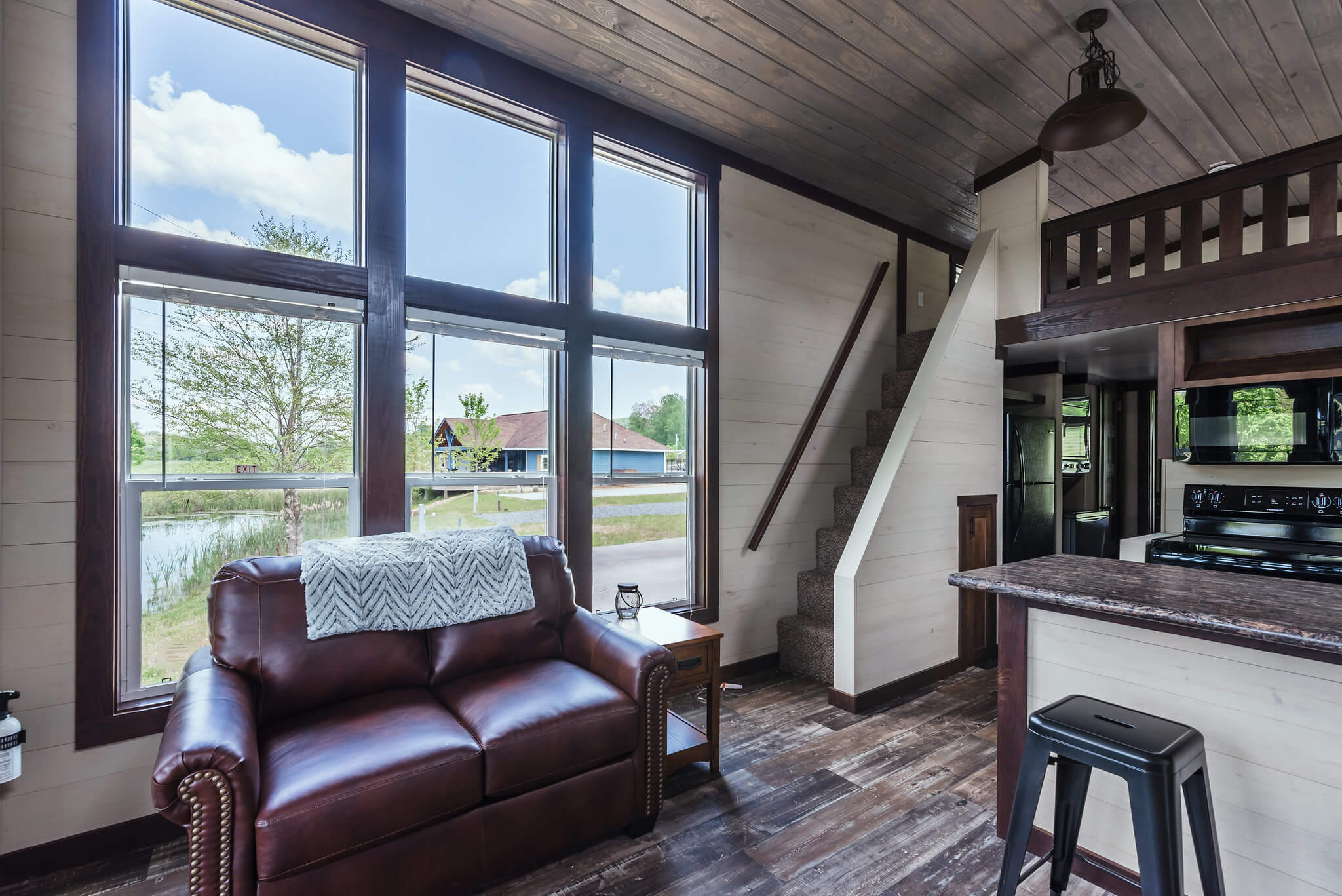 Interior of tiny home at Waterside at Blue Ridge