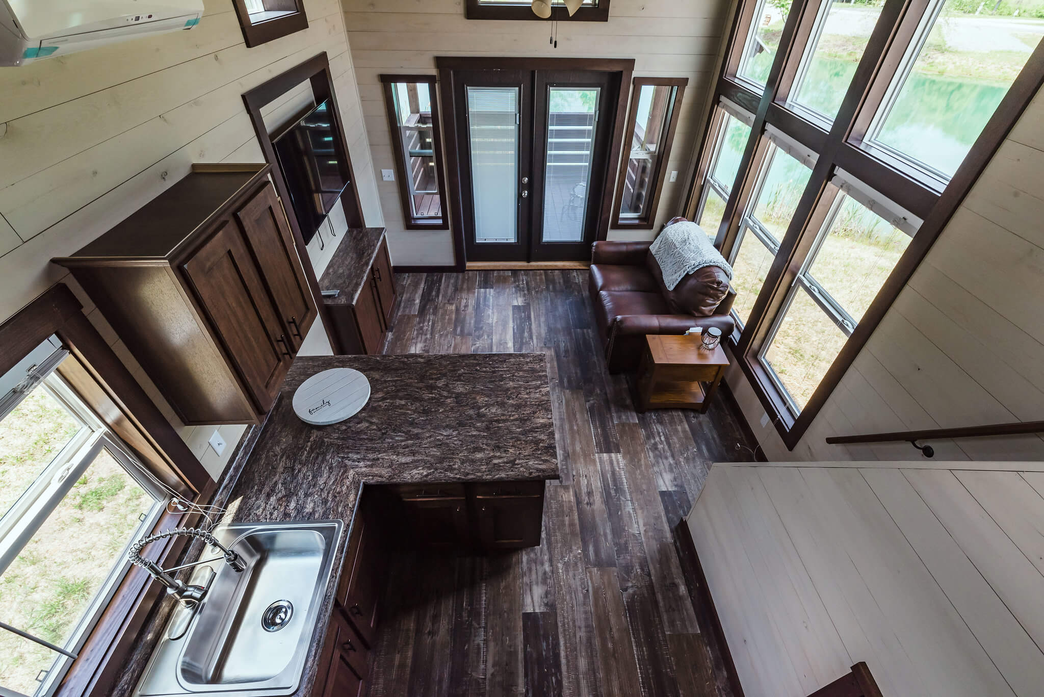 interior view of tiny home at Waterside at Blue Ridge