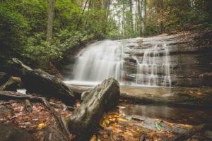 long creek falls along appalachian trail